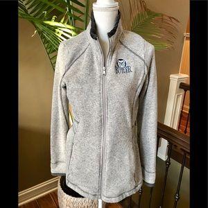 Champion Zip Sweatshirt Butler Gray Size L EUC